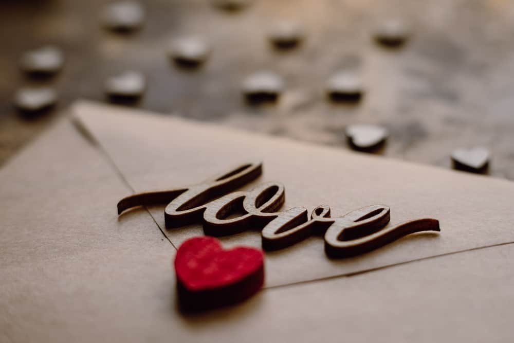 selective photo of a love letter