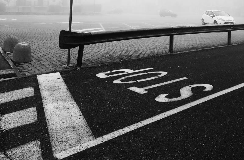 Stop sign on the street near the crosswalk