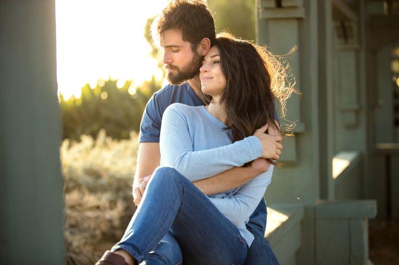 true lovers in park