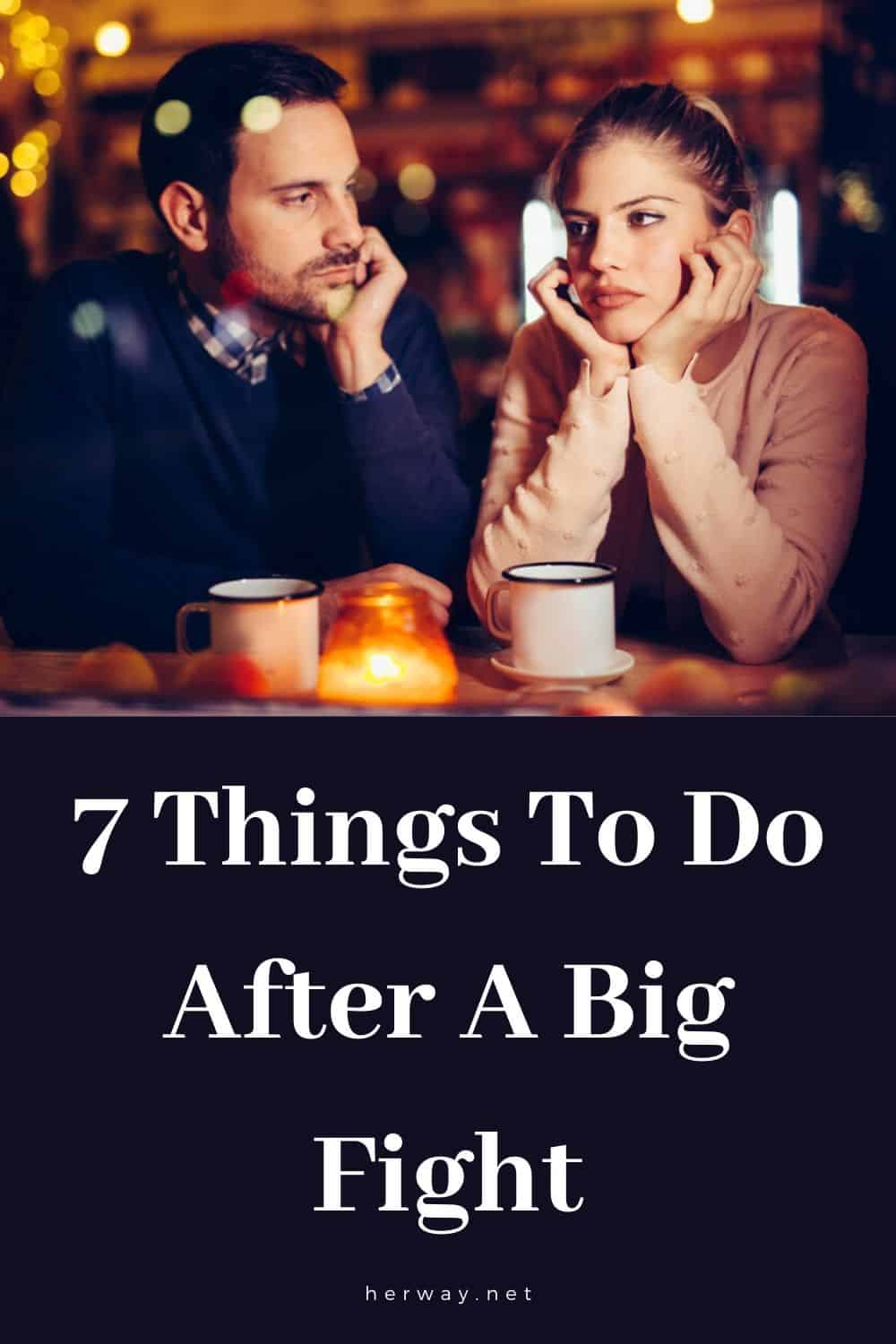 7 Things To Do After A Big Fight