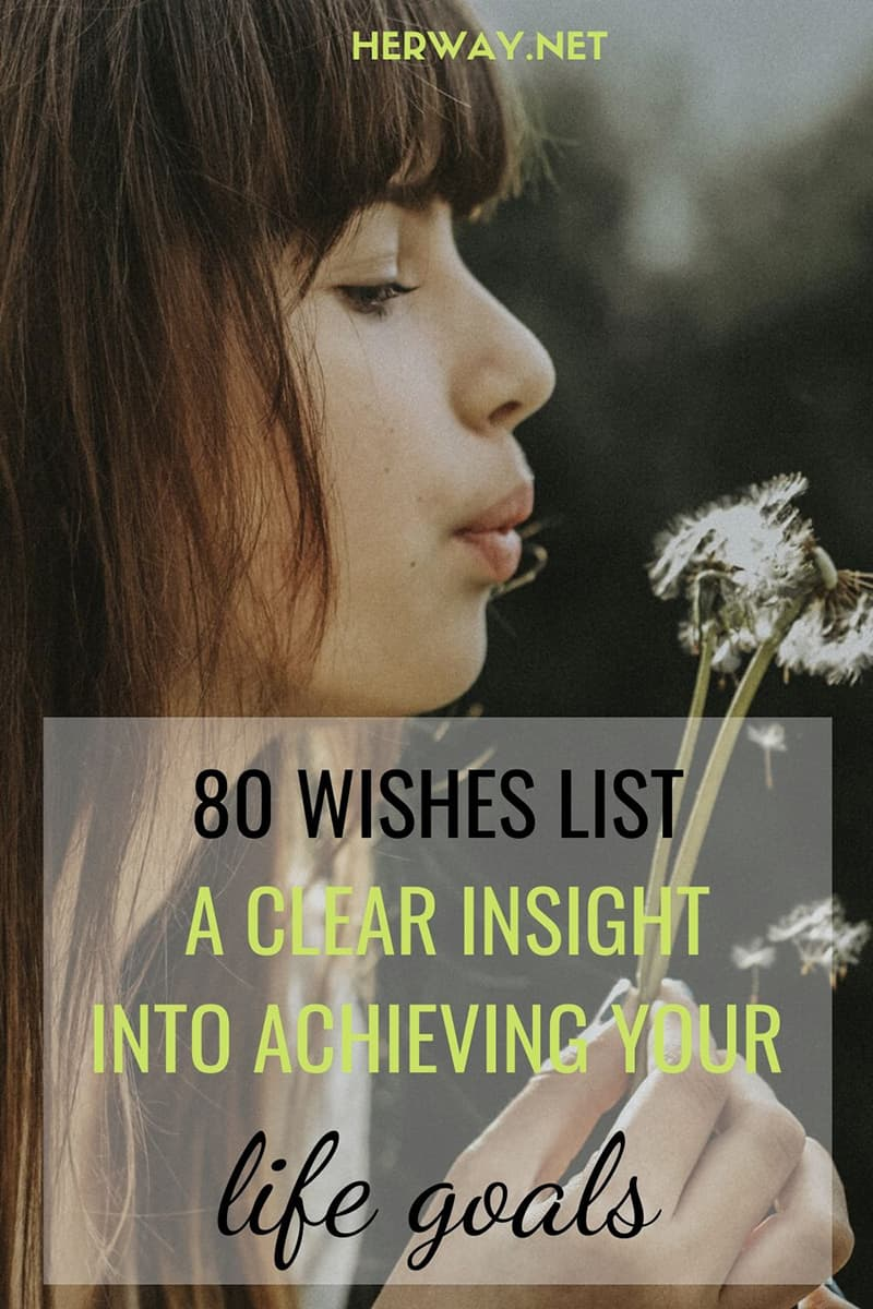 80 Wishes List: A Clear Insight Into Achieving Your Life Goals