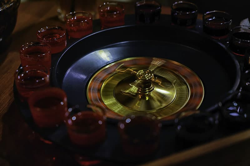Drinking Roulette Glasses with drinks