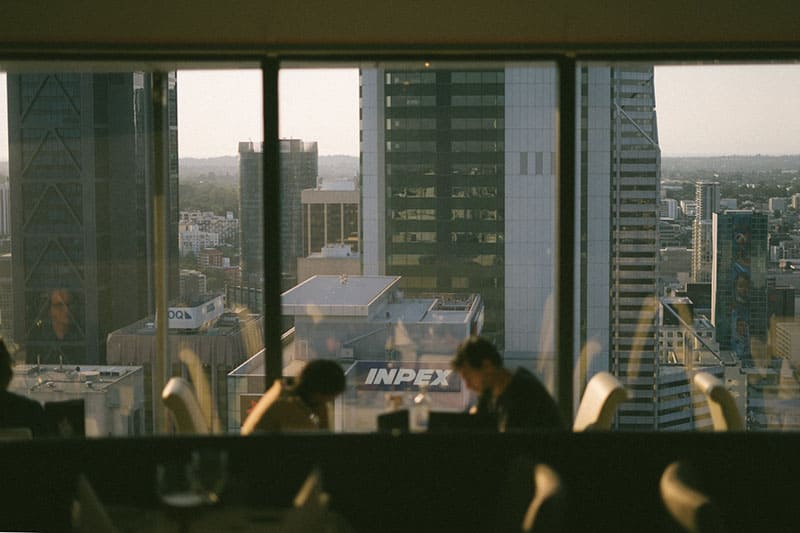 man and woman inside a building at a distance