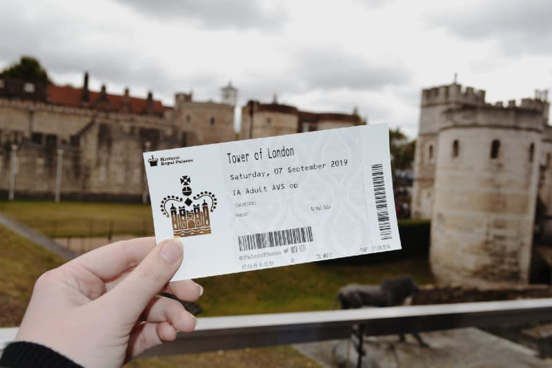 shallow focus photo of tower of London ticket