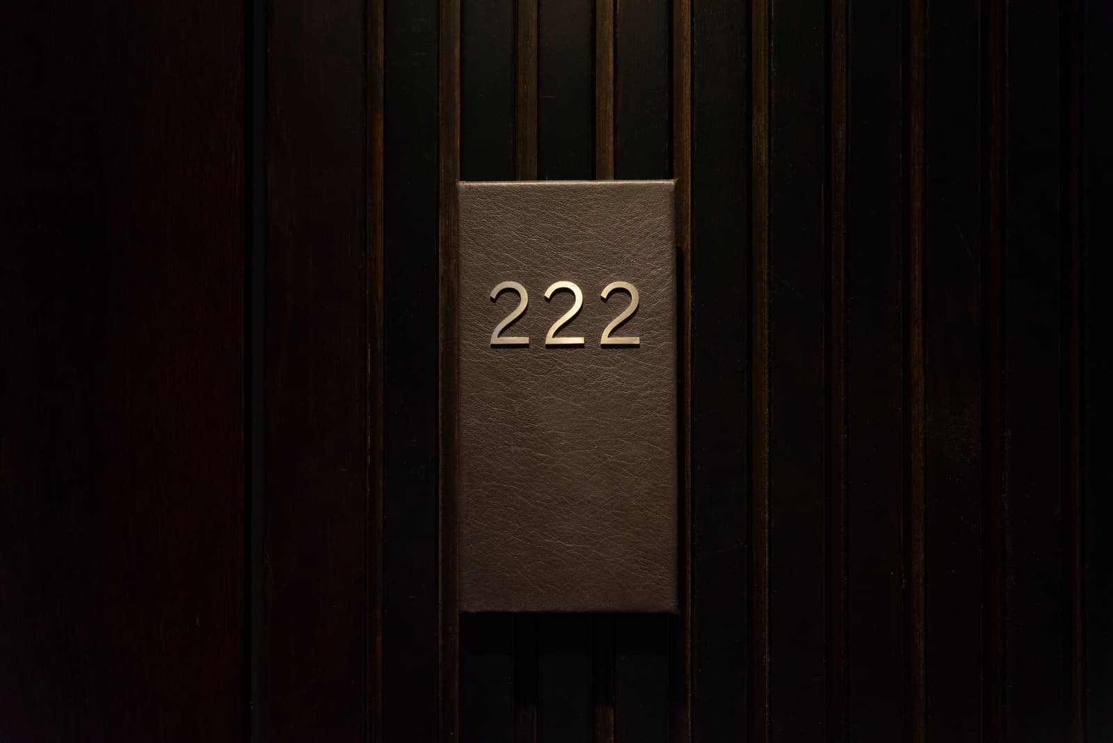 number 222 in the hotel room