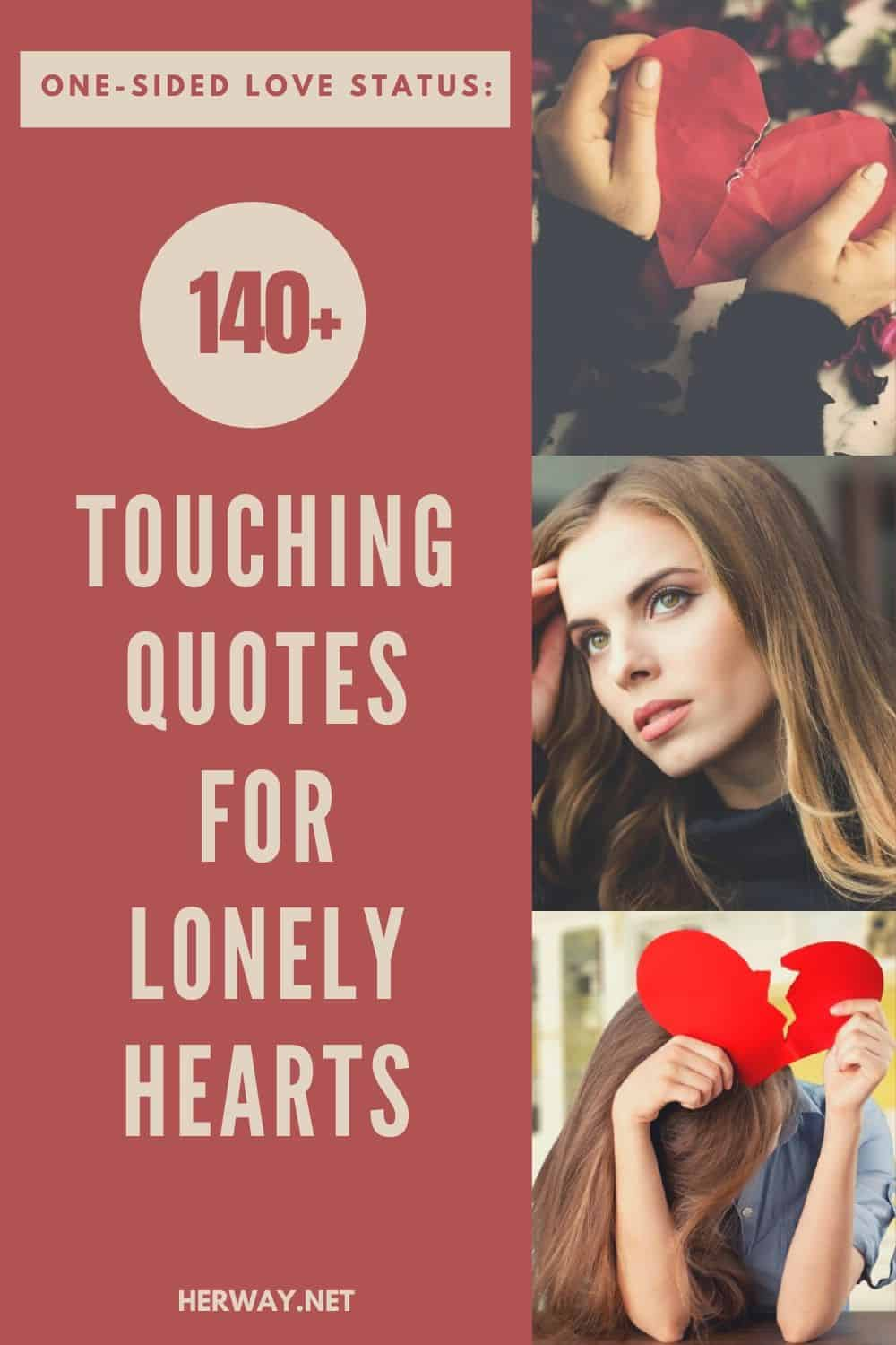 One-Sided Love Status: 140+ Touching Quotes For Lonely Hearts pinterest