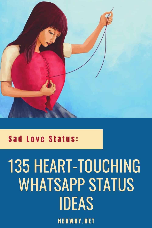 Sad Love Status: 135 Heart-Touching WhatsApp Status Ideas pinterest