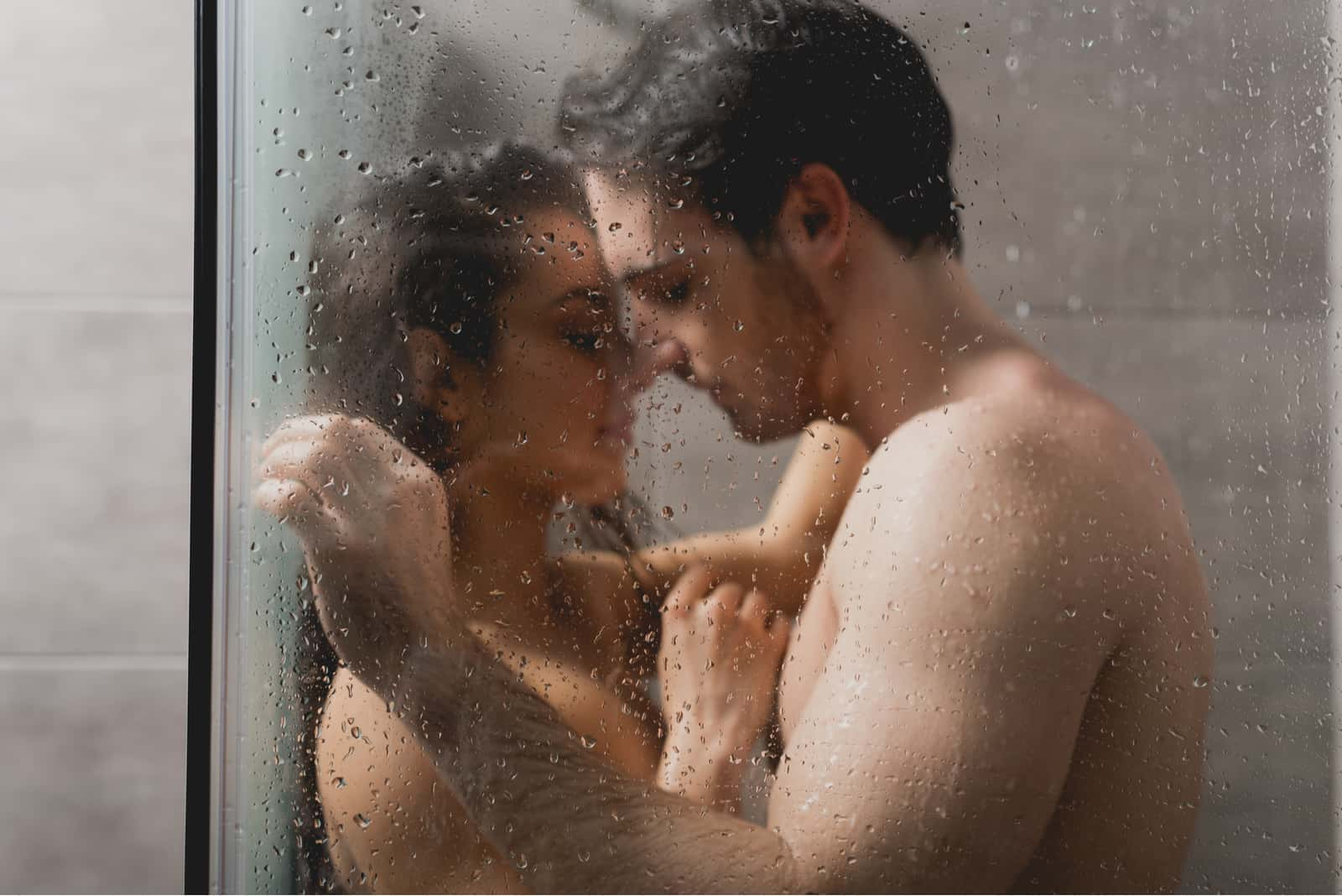 the couple has sex in the shower