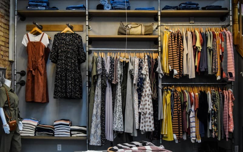 wardrobe full of woman clothes