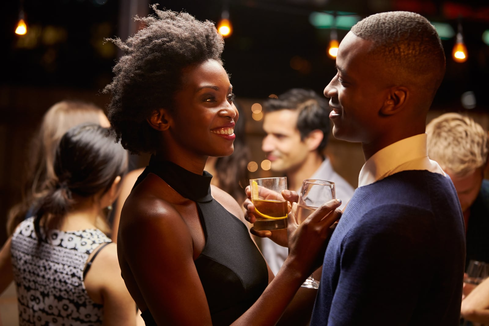 Couples Dancing And Drinking At birthday Party