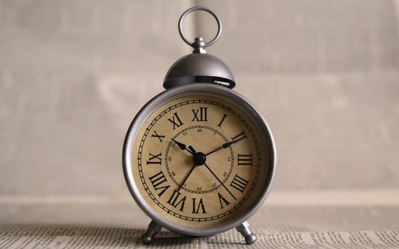 Roman numerals on alarm clock