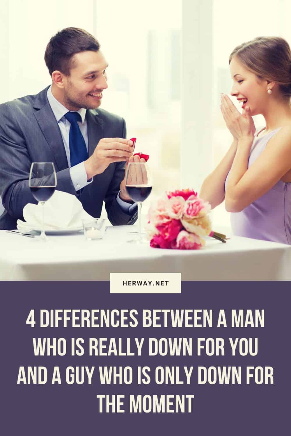 4 Differences Between A Man Who Is Really Down For You And A Guy Who Is Only Down For The Moment