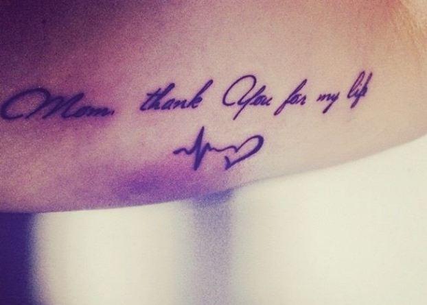 Thank you tattoo inked