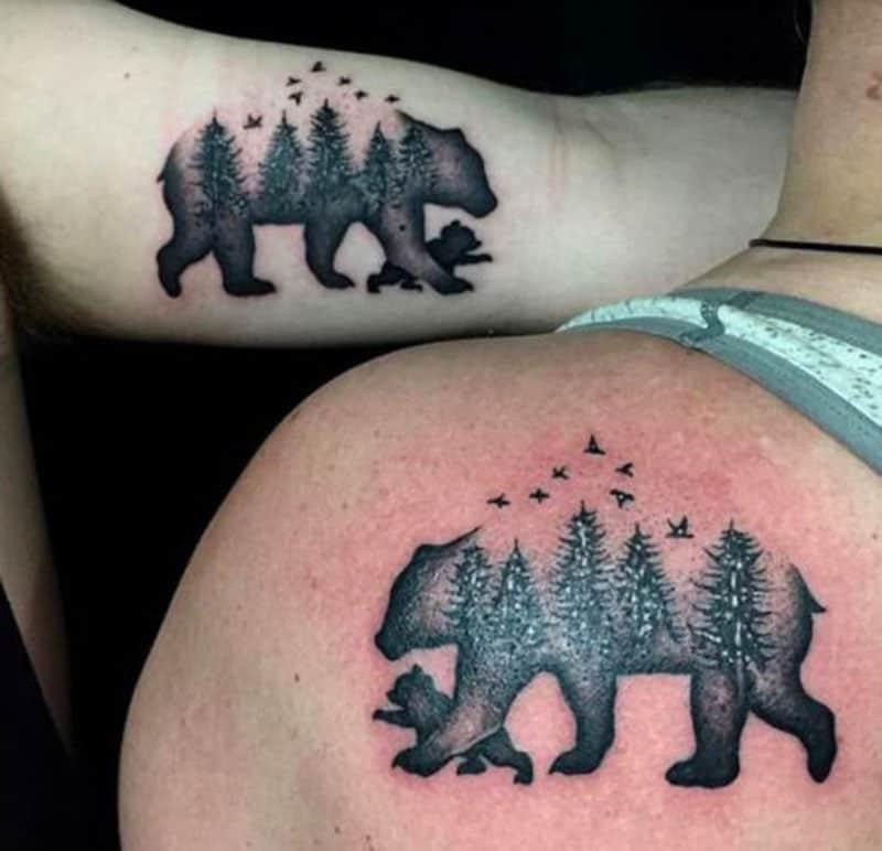 The mama bear instinct tattoo
