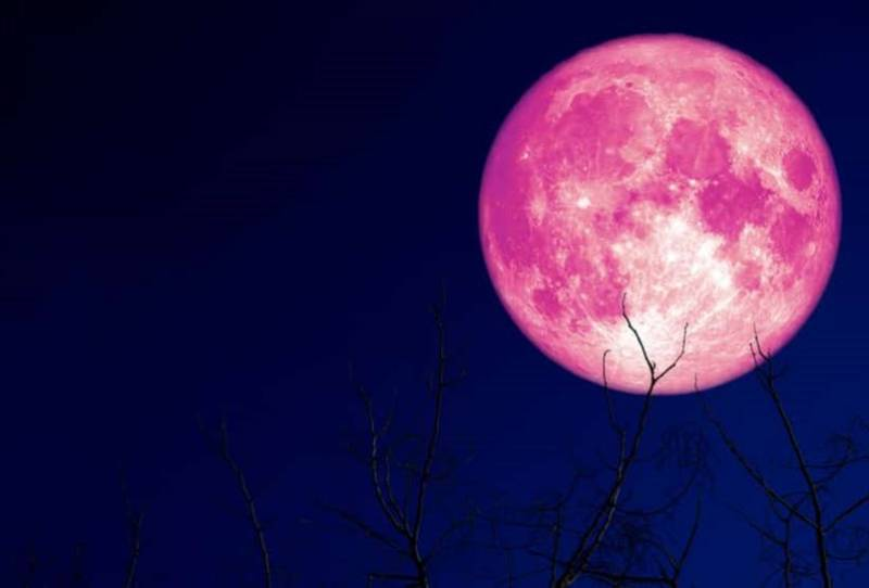 photo of strawberry moon