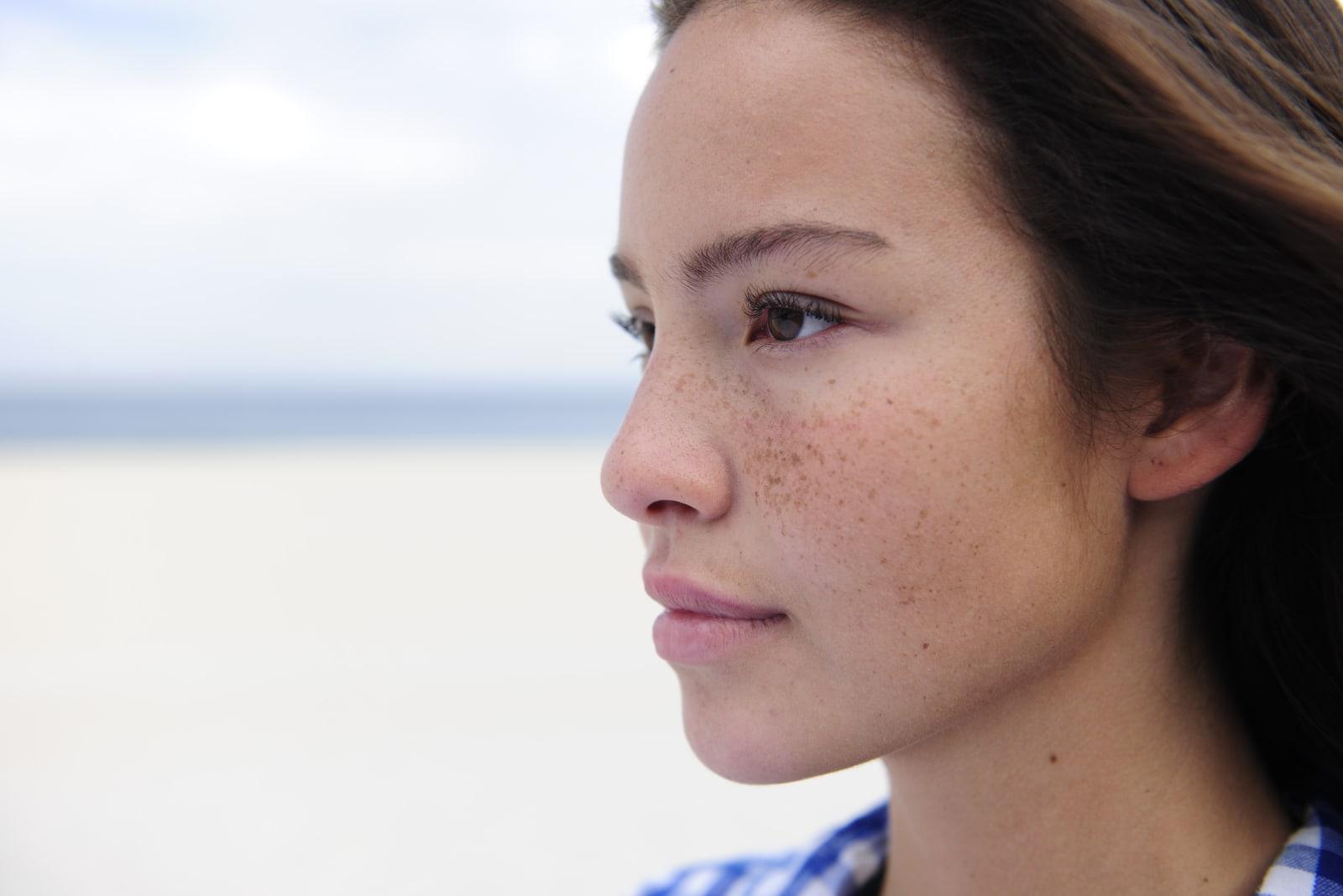 beautiful woman at the sea