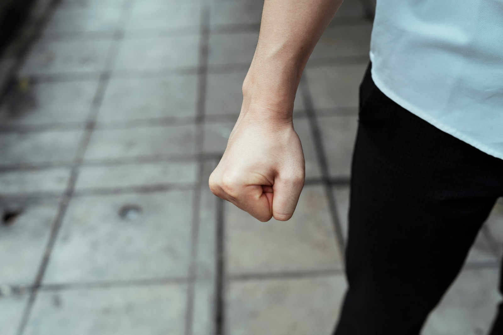 the man who clenched his fist