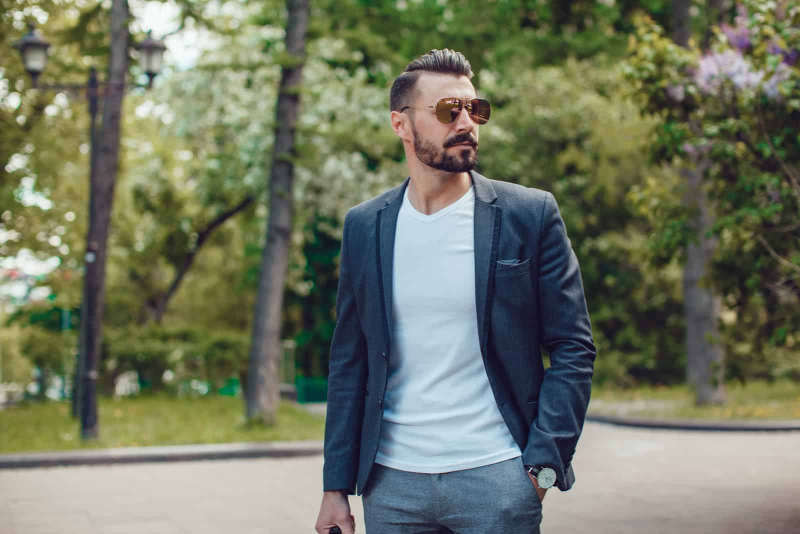 Stylish man with a beard